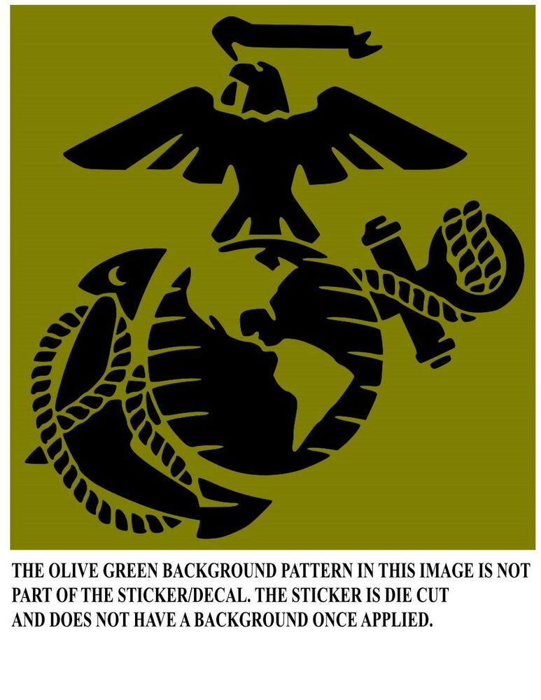 Vinyl Window Decals : Usmc emblem vinyl window decal ebay
