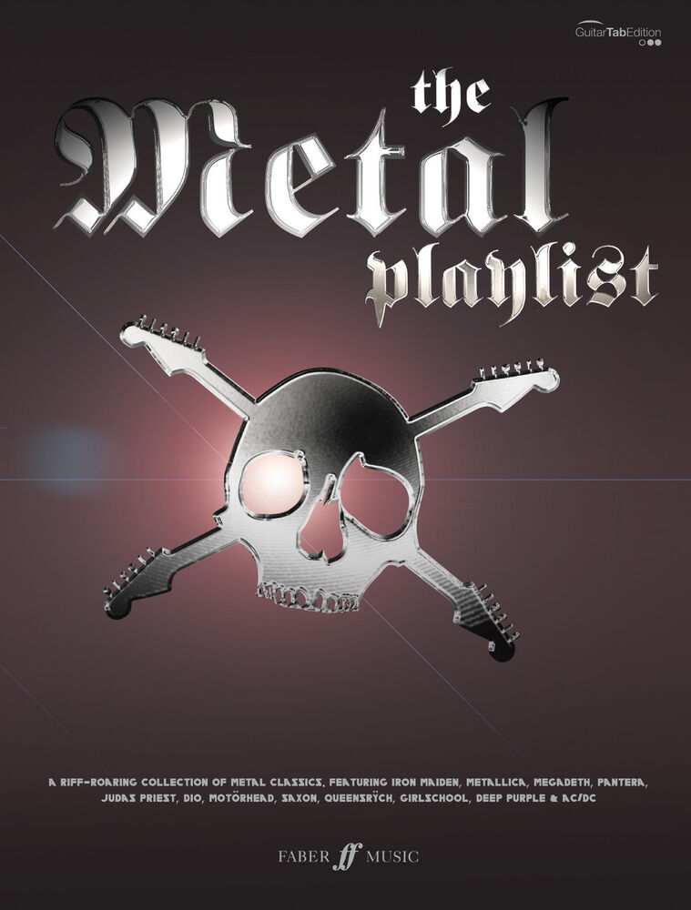 the metal playlist rock heavy metal guitar tab learn to play faber music book ebay. Black Bedroom Furniture Sets. Home Design Ideas