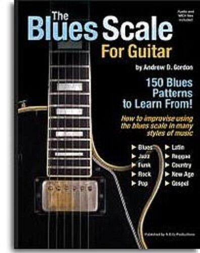the blues scale for guitar learn to play tutorial beginner music book cd ebay. Black Bedroom Furniture Sets. Home Design Ideas