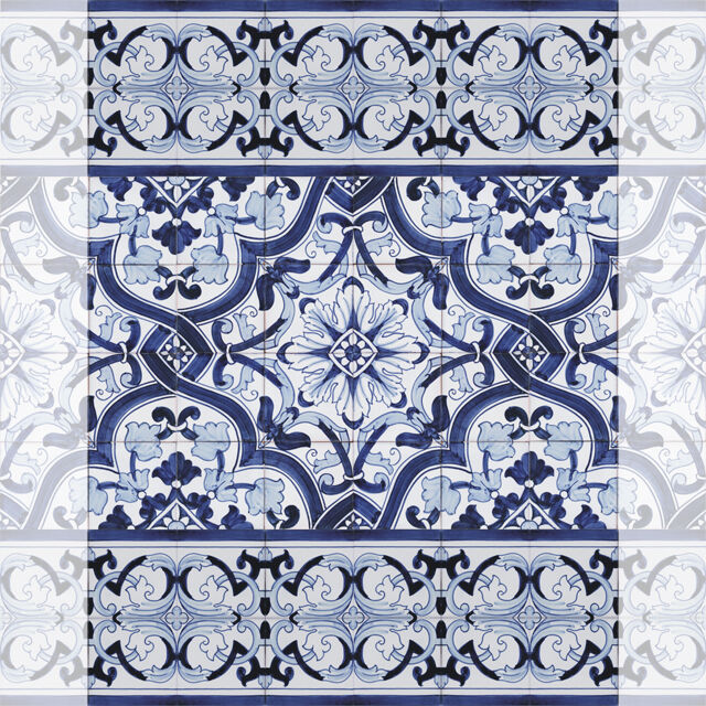 Portuguese Traditional Painted Clay Azulejos Tiles
