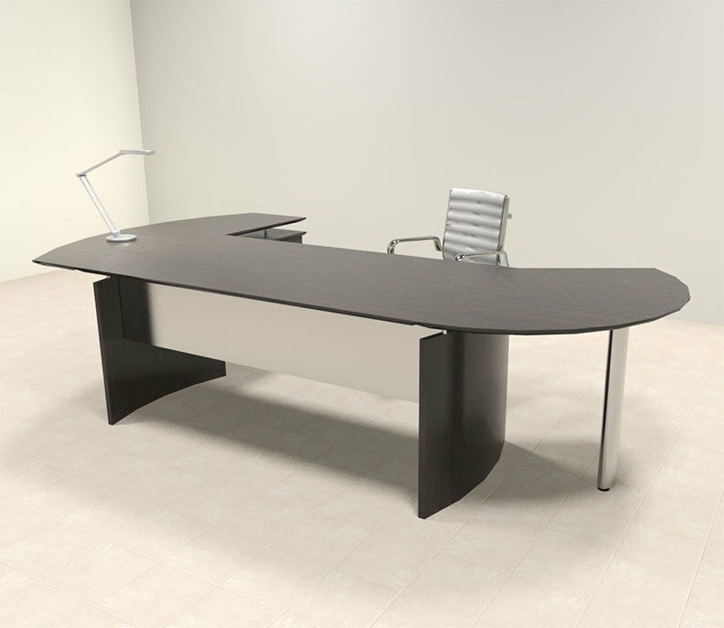3pc modern contemporary l shaped executive office desk set mt med o3