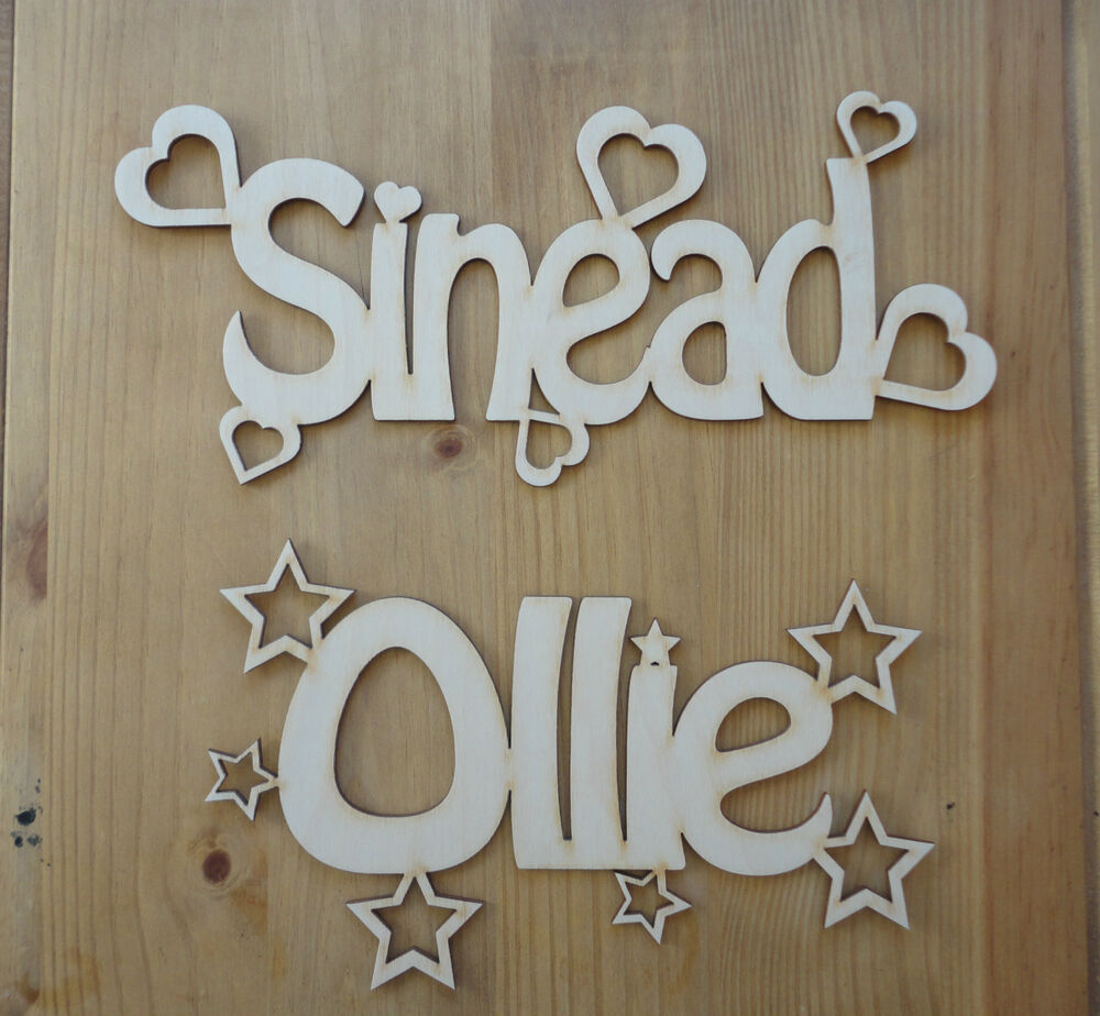 Wooden Words Wall Art : Personalised wooden name plaques words letters wall door