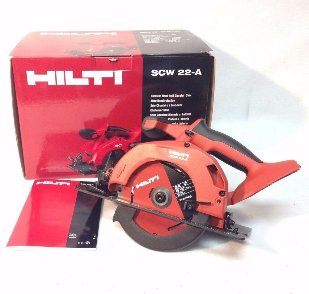 hilti scw 22 a 18v 21 6 v li ion cpc cordless circular saw. Black Bedroom Furniture Sets. Home Design Ideas