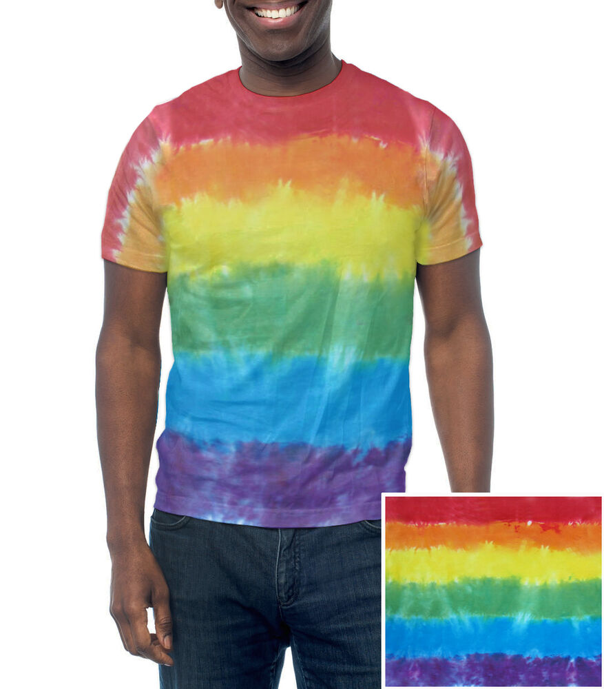 Rainbow Flag Tie Dye T-Shirt - LGBT Lesbian and Gay Pride ...