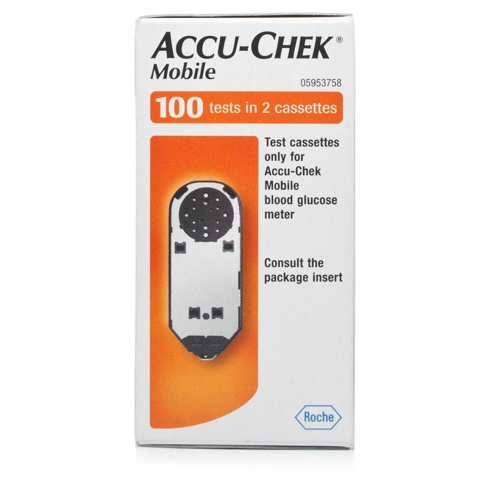accu chek mobile diabetes test strip cassettes 2x50 tests 100 ebay. Black Bedroom Furniture Sets. Home Design Ideas