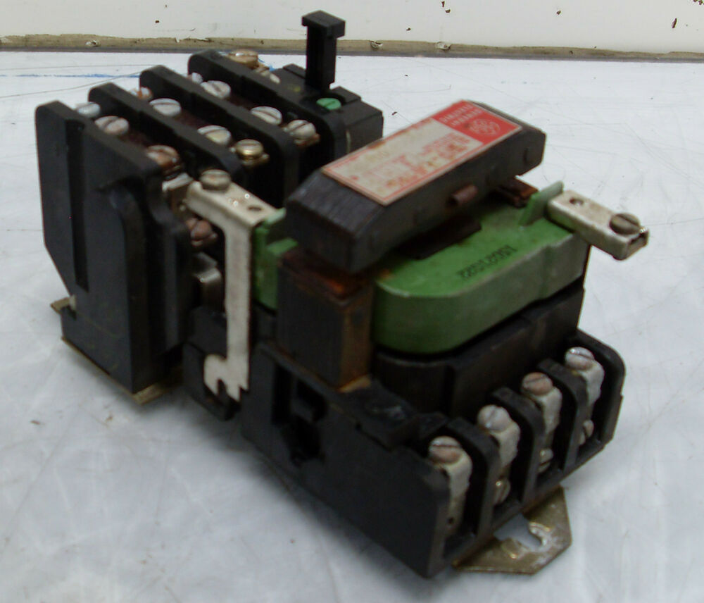 General electric size 0 motor starter cr206b000aqa 120v for General electric motor starters