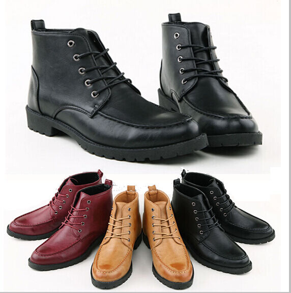 mens casual leather lace desert hiking ankle