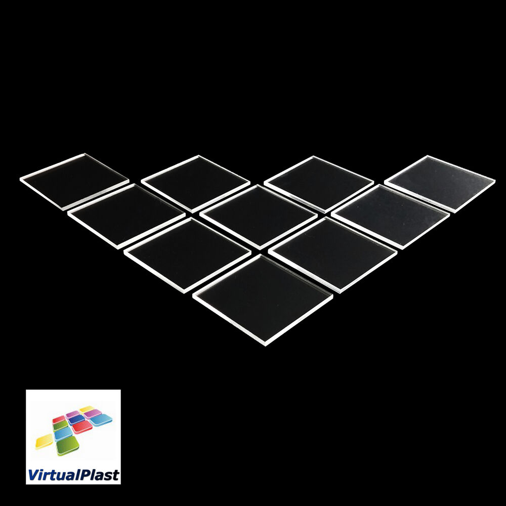 1mm 2mm 3mm clear perspex acrylic plexiglass cut squares different sizes ebay. Black Bedroom Furniture Sets. Home Design Ideas