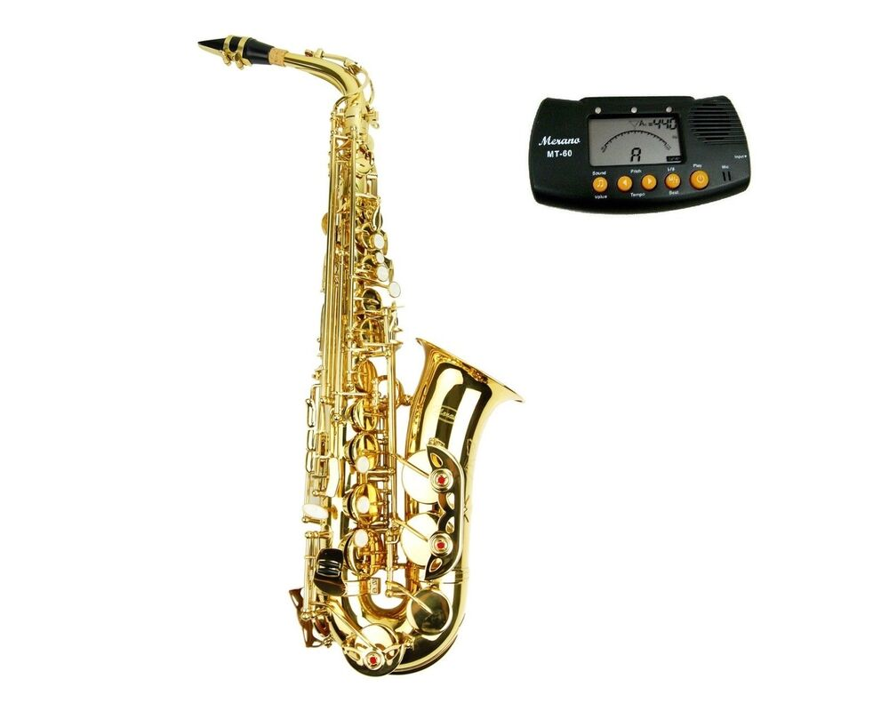 new merano e flat black alto saxophone case student orchestra beginner band ebay. Black Bedroom Furniture Sets. Home Design Ideas