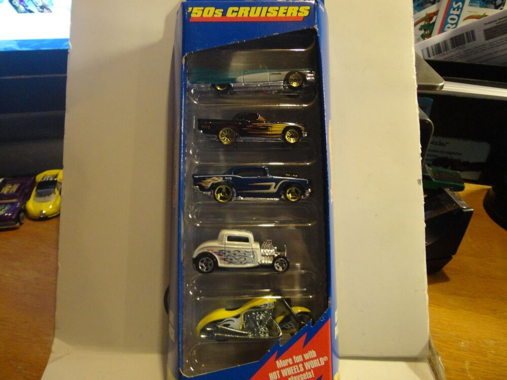 Hot Wheels 5 Car Gift Pack 50 S Cruisers W Yellow Scorchin Scooter Ebay