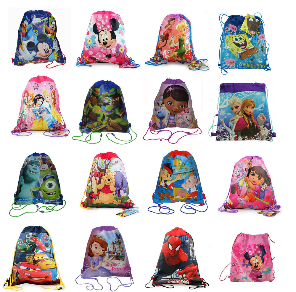 Cute bags for school ebay - Kids Sling Bag Drawstring Backpack Goody Candy Bag Party Favors Ebay