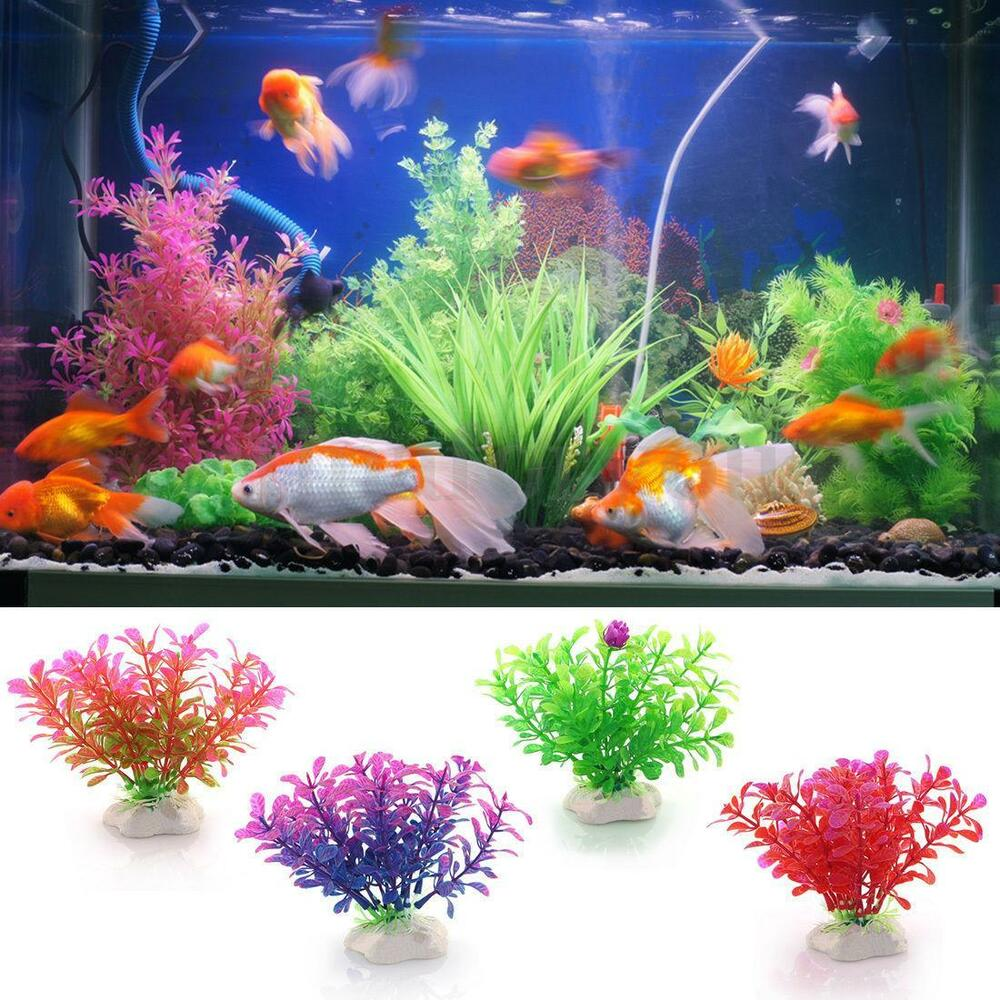 Plastic grass artificial water plant for fish tank for Aquarium decoration uk