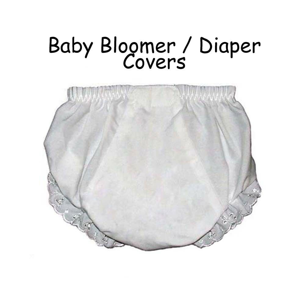 Baby Diaper Covers Bloomers Embroidery Blank - White - 12 ...