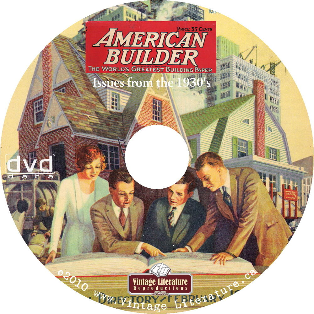 American Home Builder Magazine 1930 39 S Full Color House