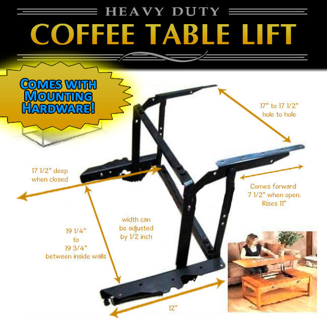 Coffee Table Lift Hardware Set: Lift Top Coffee Table (2 Sets) DIY Hardware Fitting