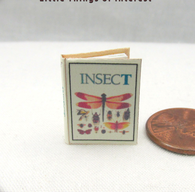 INSECTS ILLUSTRATED Dollhouse Miniature Book 1:12 Scale