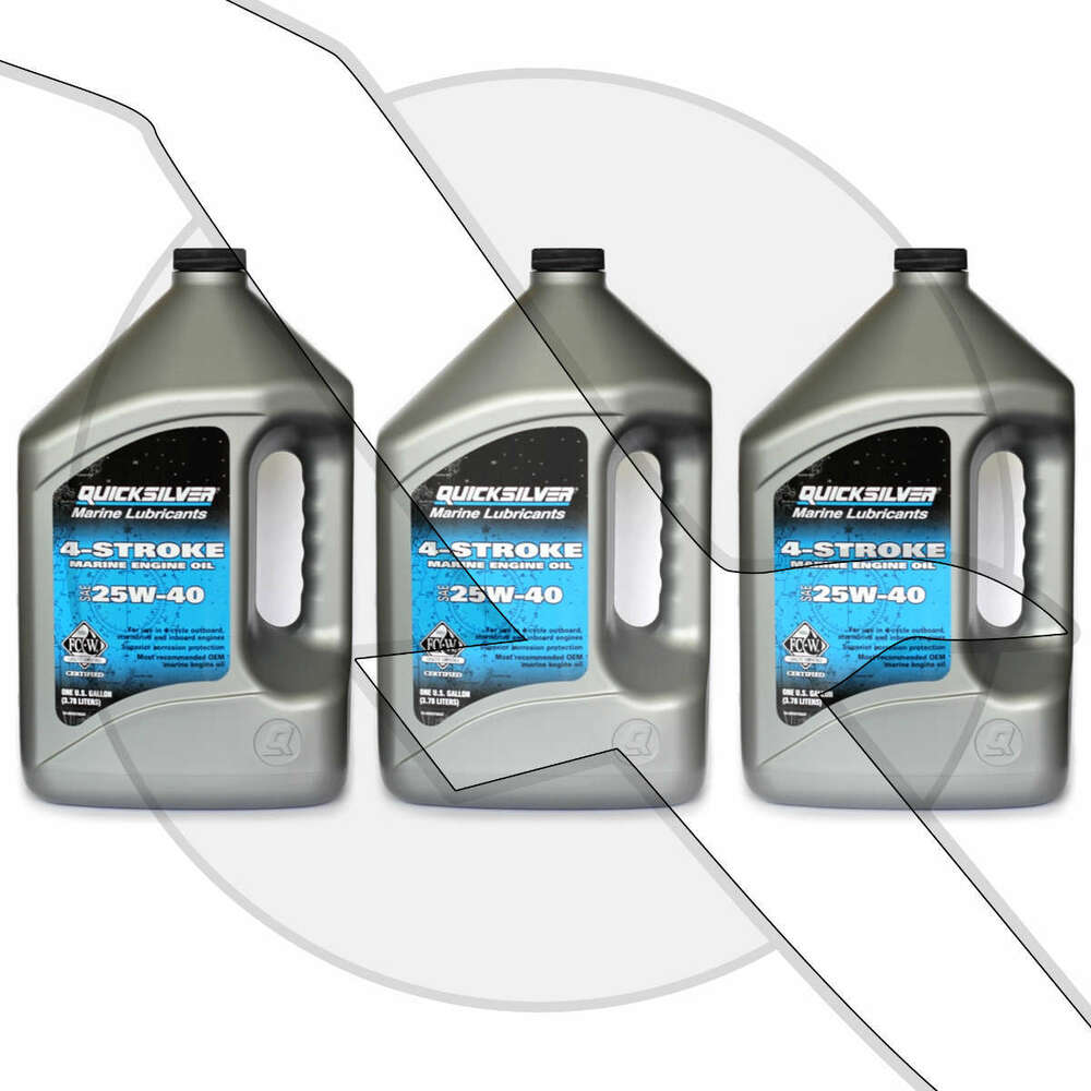 Mercruiser Quicksilver 25w40 Marine Engine Oil For