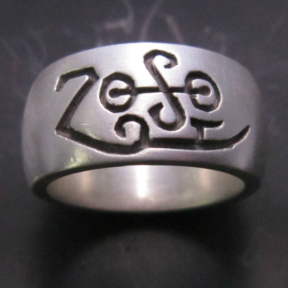 mjg sterling silver zoso ring band jimmy page led. Black Bedroom Furniture Sets. Home Design Ideas