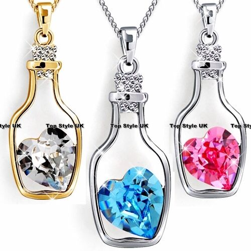 inside bottle unique necklace gift