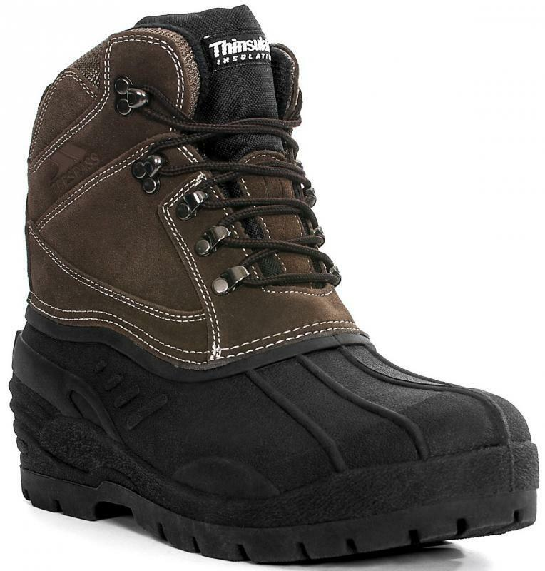trespass mens snow boots shoes aldor lace up uk 11 eur
