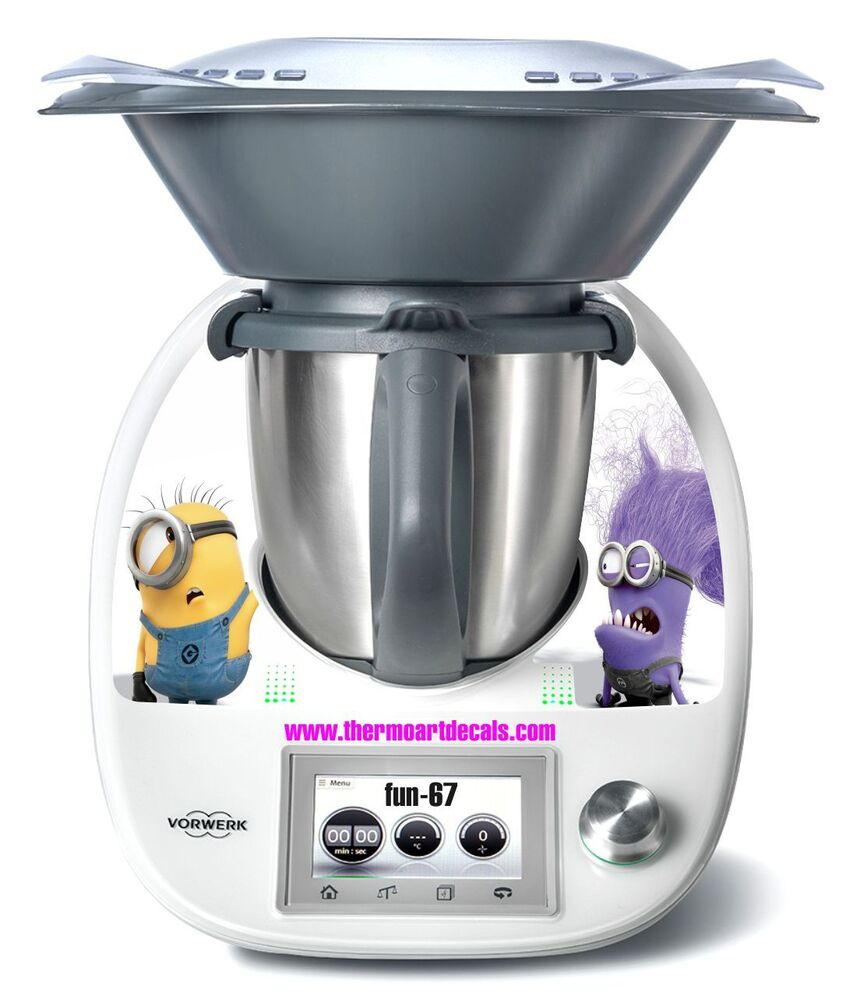 thermomix tm5 minion sticker decal code fun 67 ebay. Black Bedroom Furniture Sets. Home Design Ideas