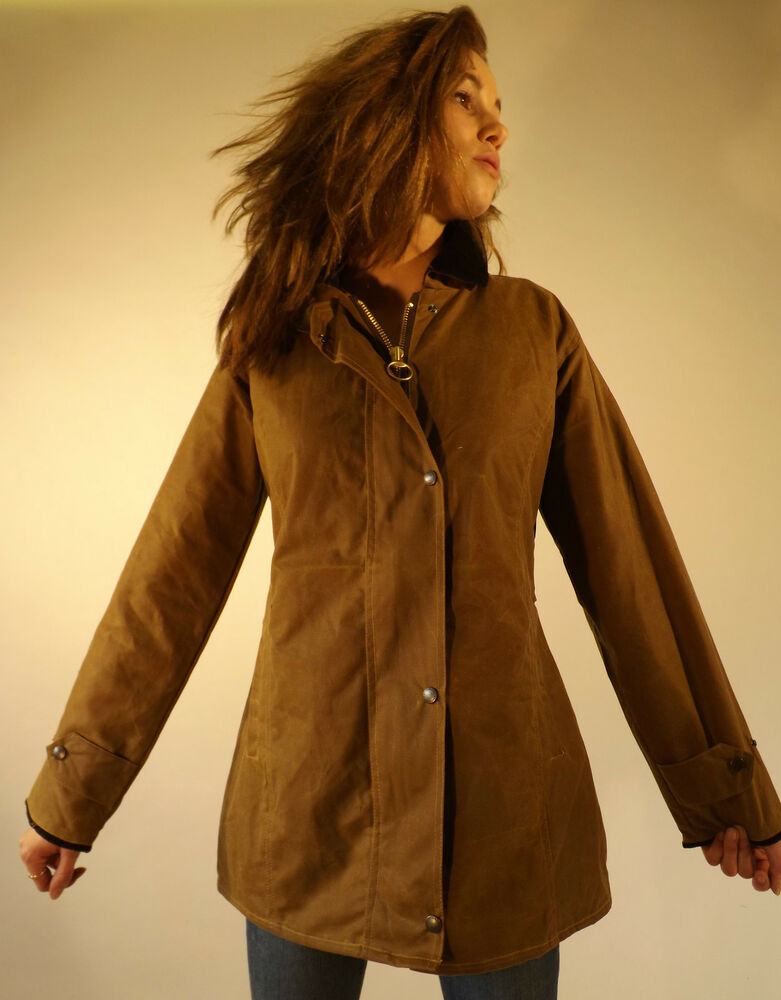 Wax Jacket New Women S Made In England Fitted Coat Jacket