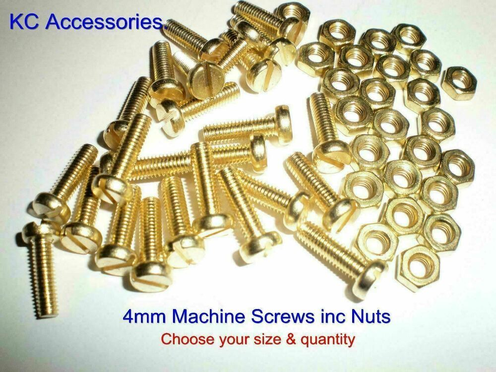 how to cut brass screws