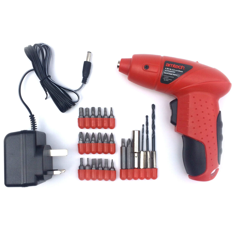 rechargeable cordless electric screwdriver drill with bits ebay. Black Bedroom Furniture Sets. Home Design Ideas
