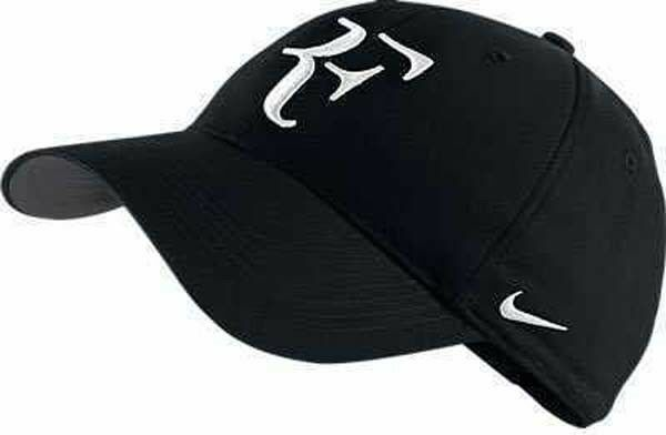 199a20b487e New Nike RF Roger Federer Hat Cap Black  Tennis Dri Fit 371202-010 ...