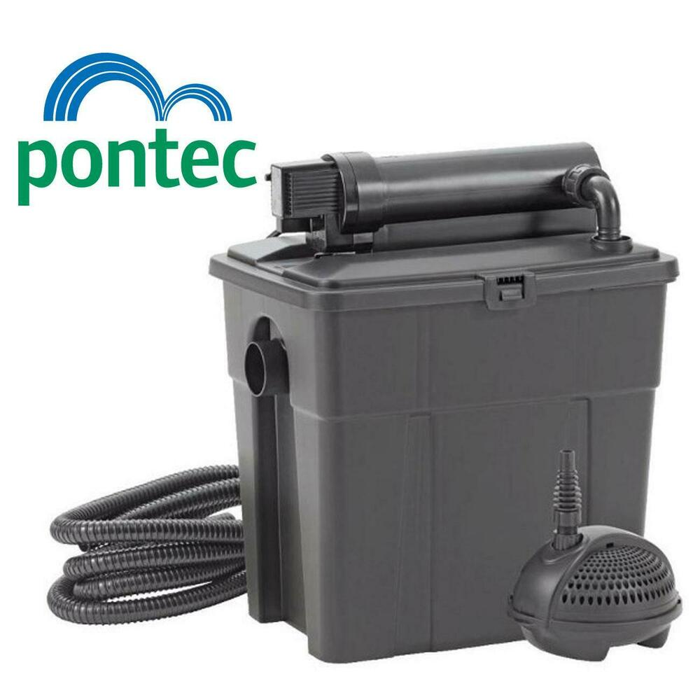 Oase pontec multiclear 8000 filter set complete garden koi for Complete koi pond filtration systems
