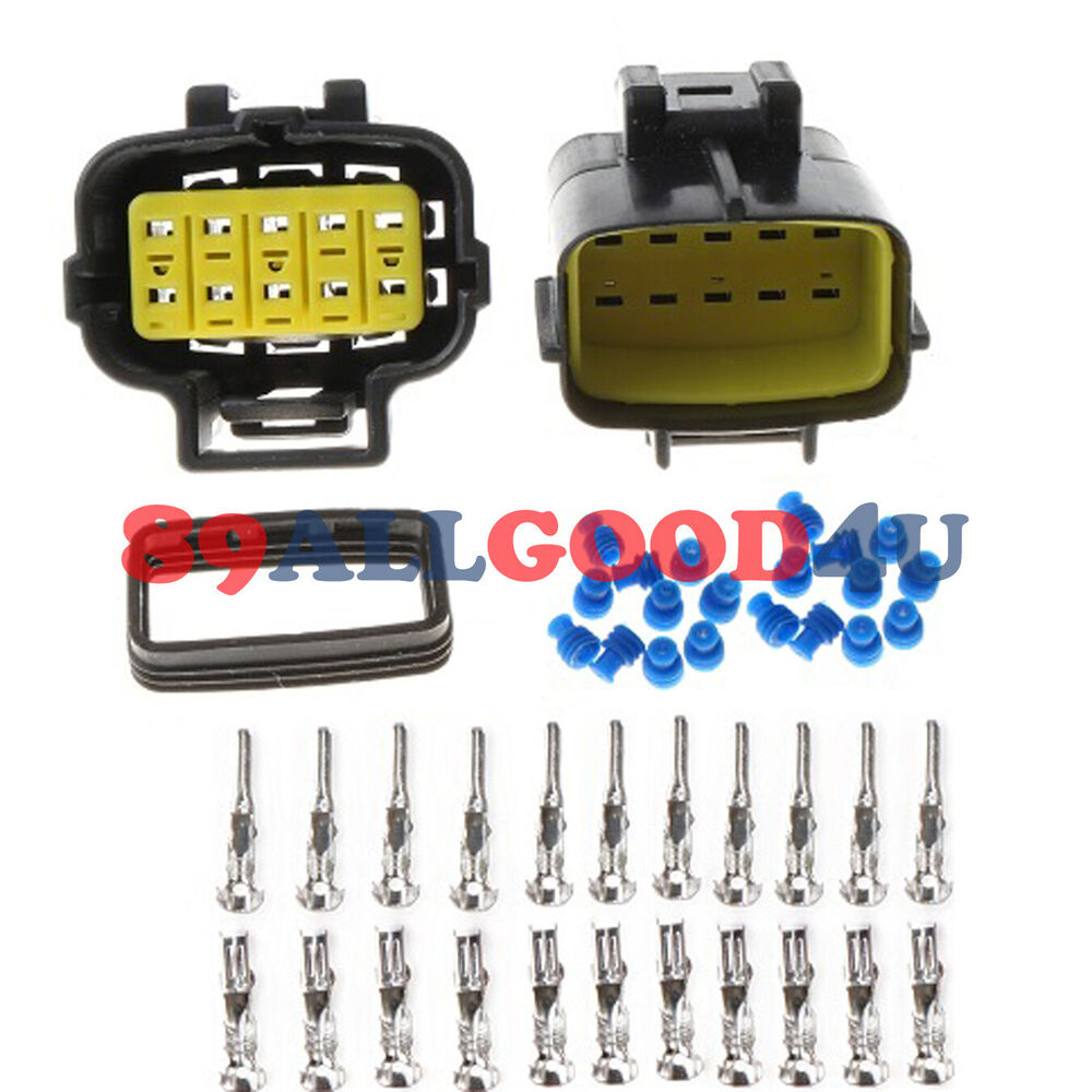 sets   car waterproof 10 pin electrical wire connector plug awg car