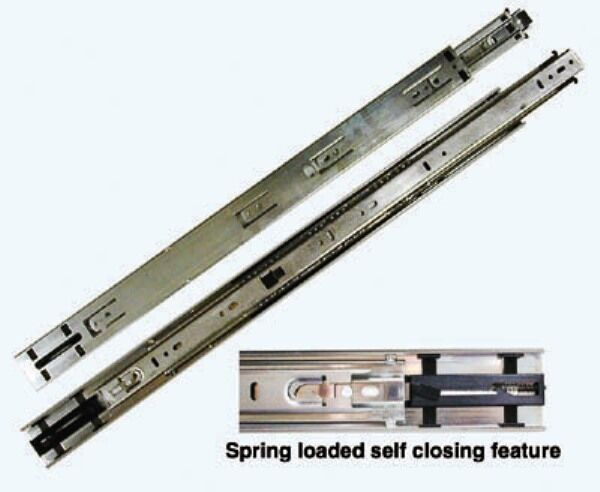 Drawer Slide Kv8417 Ball Bearing Nickel Self Close Spring Shut Ebay