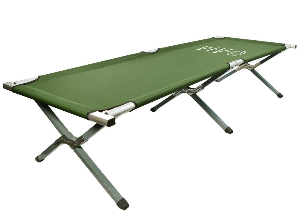 Vivo Cot Green Fold Up Bed Folding Portable For Camping