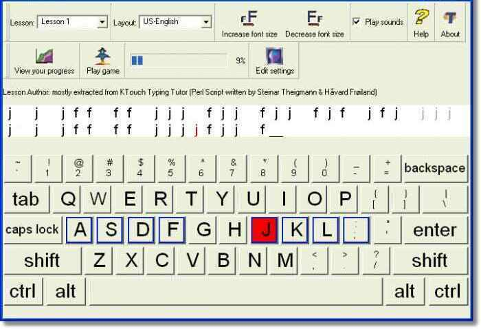 Learn touch typing programming