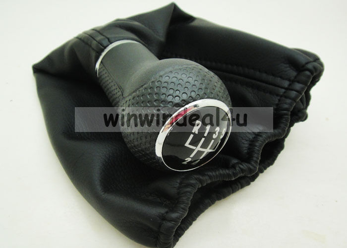 5 speed gear shift knob boot for vw polo classic 6n 6n2 ebay. Black Bedroom Furniture Sets. Home Design Ideas