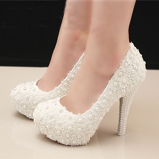 lace wedding shoes gorgeous lace bonzer handmade pearl wedding formal classic 5381