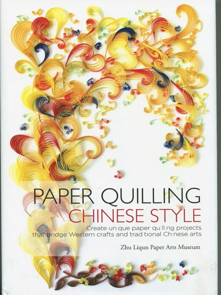 Book Cover Paper Quilling ~ Paper quilling chinese style new hard cover pattern book