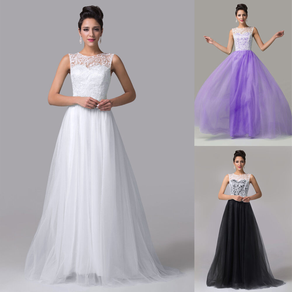 Women lace vintage long formal evening party bridesmaid for Wedding dresses for womens