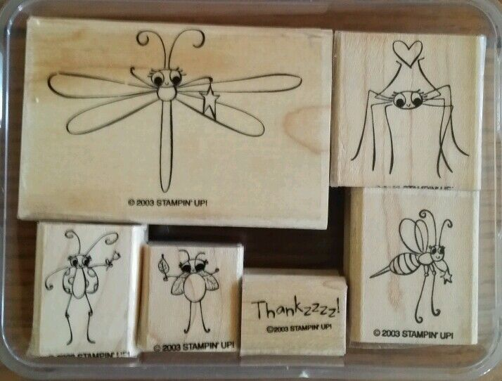 stampin u0026 39  up cute as a bug set 6 rubber stamps lot