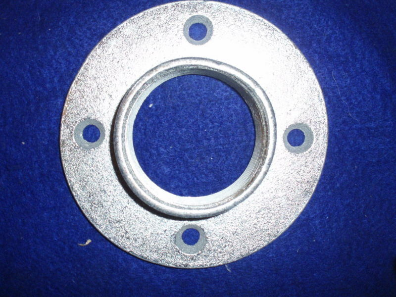 Warped 2 galvanized floor flange ceiling flange wall for 1 inch galvanized floor flange