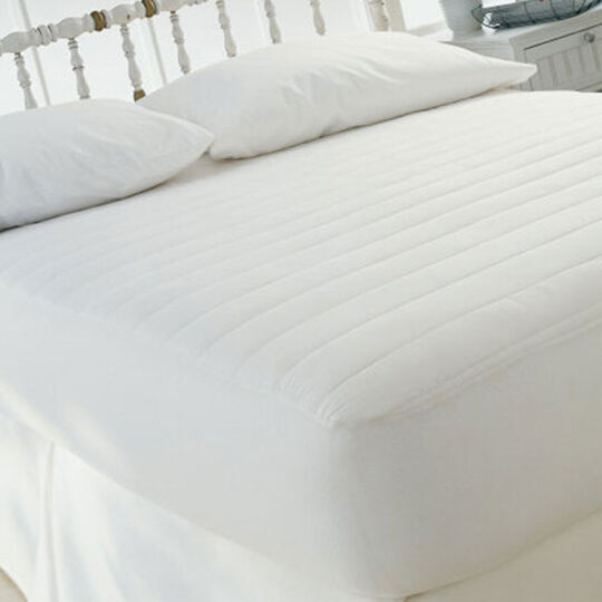 Fitted Mattress Pad 15 Quot Deep 100 Cotton Cover Polyester