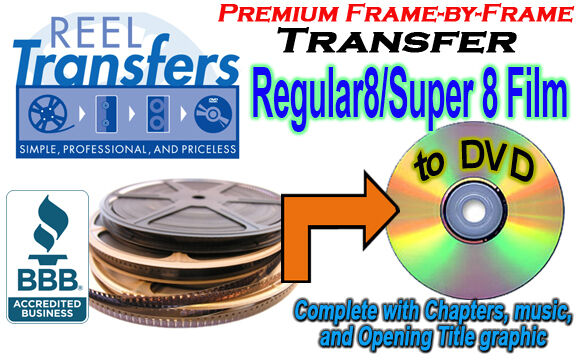 we convert your 8mmsuper 8 film home movies to dvd great