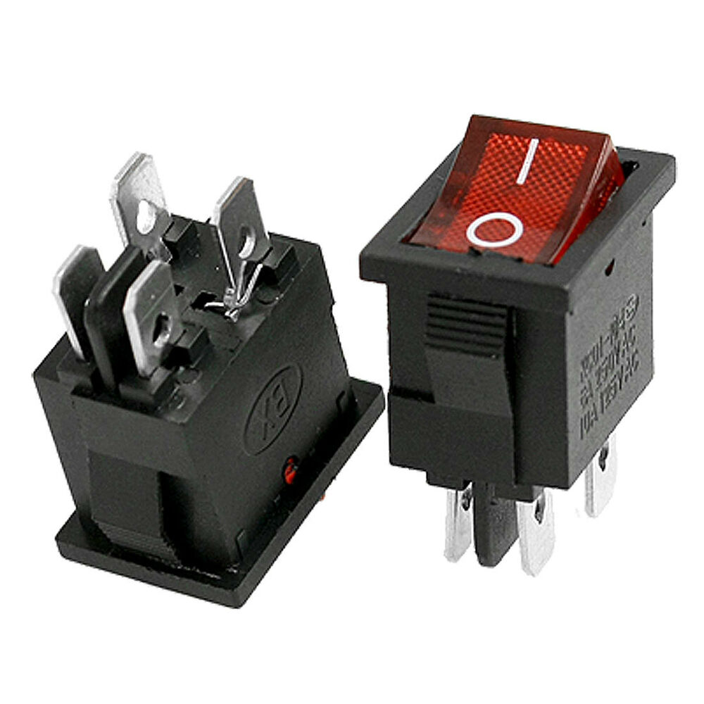 Rocker Switch Red On Off Dpst With Lamp 6a 250vac Buy