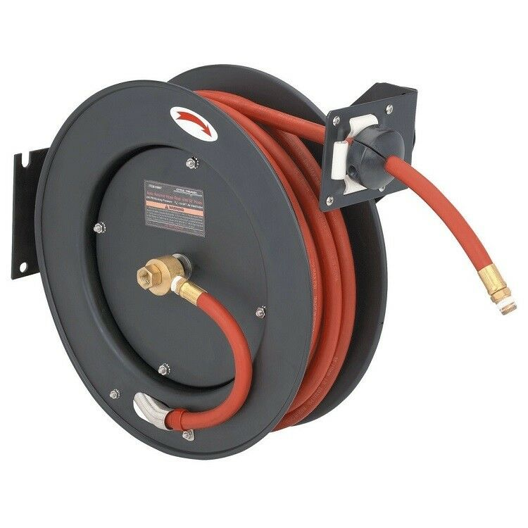 retractable air hose reel auto rewind 38u0026034 x 25u0026039 compressor 300 psi new 0 ship ebay - Hose Reels