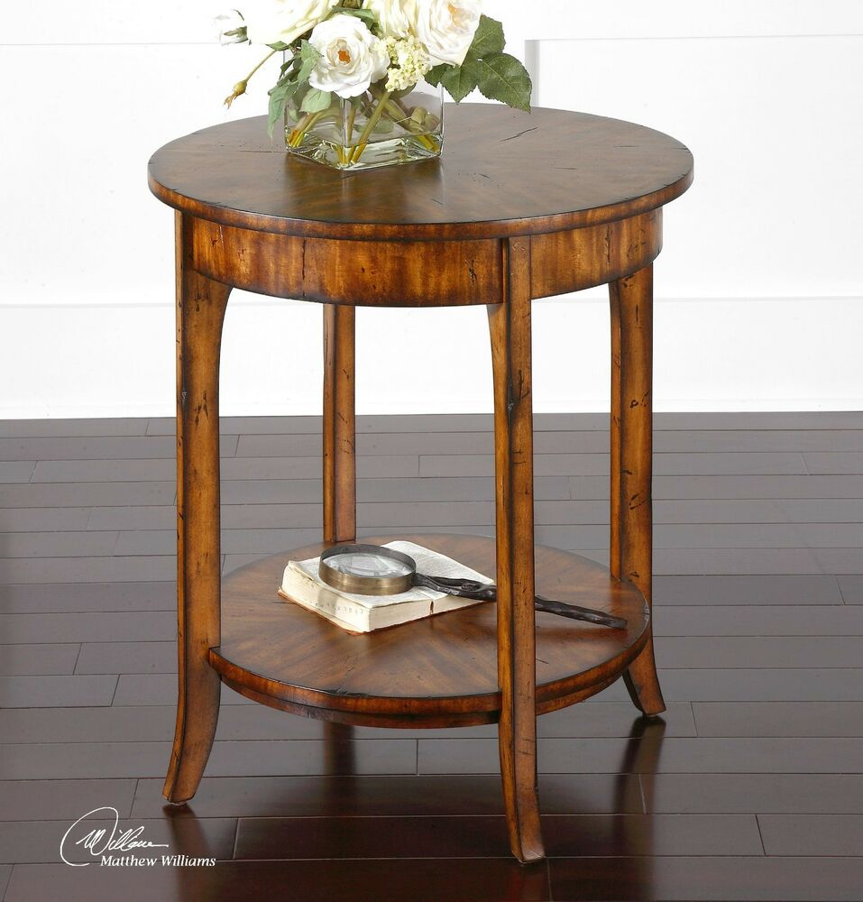 New large 22 quality solid wood barn finish end side Modern side table