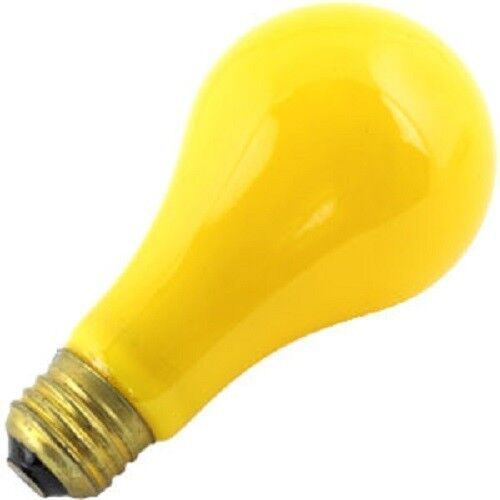 Bulbrite 103100 100w 120v Incandescent A19 E26 Base Yellow Bug Light Bulb Ebay