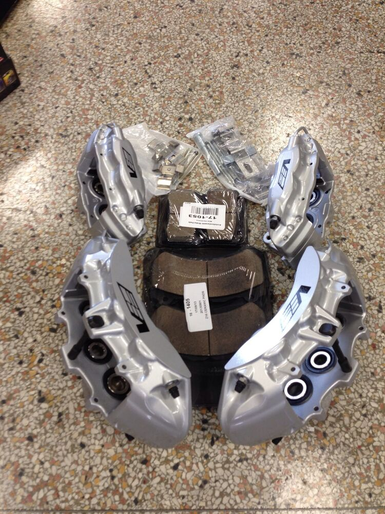 New Gm Oem Cts V 6 Piston Silver Brembo Calipers Front