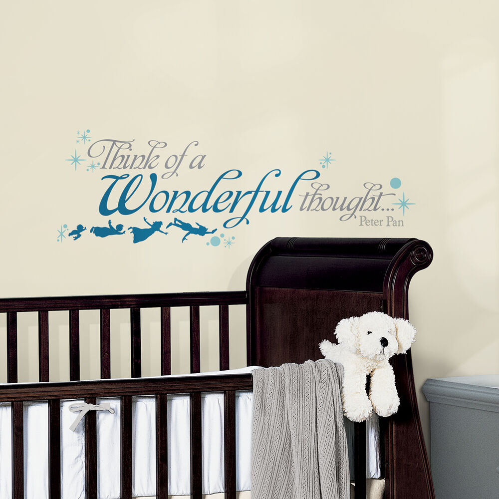 New Peter Pan Quote THINK A WONDERFUL THOUGHT WALL DECALS ...