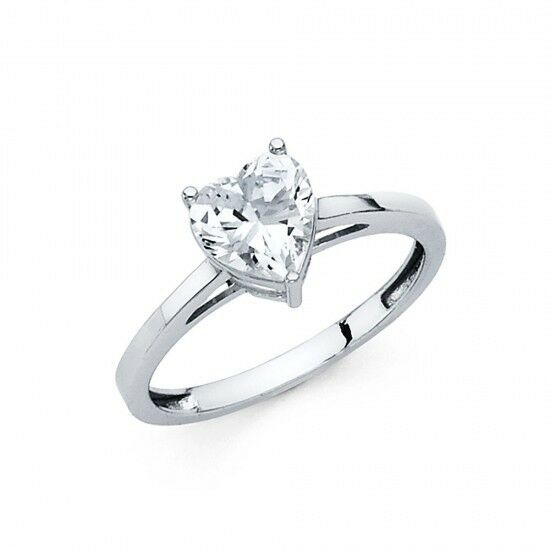 ... Solitaire Engagement Wedding Promise Ring Solid 14k White Gold   eBay