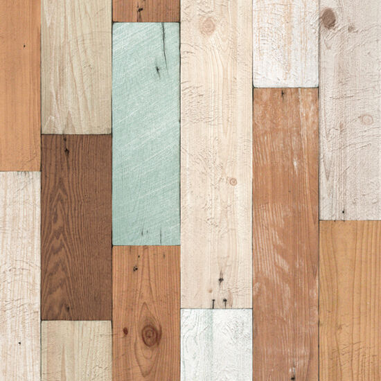 Rustic wood panel self adhesive wallpaper scrap home depot for Home depot wallpaper
